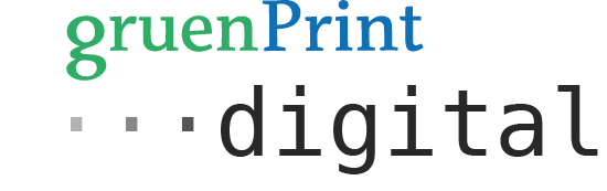 gruenPrint digital Logo